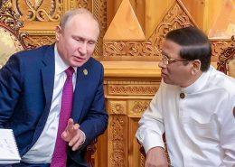Vladimir Putin with Maithripala Sirisena - Sri Lanka President meets Russia President