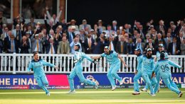 England cricket team after the world cup win 2019