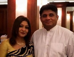 Jalani Premadasa with Sajith Premadasa