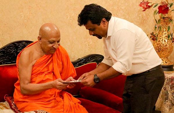 JVP Anura Kumara Dissanayake met Maha nayaka thero