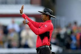 Cricket umpire Kumar Dharmasena 6 runs decision at Final match of World Cup 2019