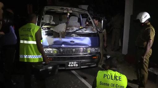 Van shot by army