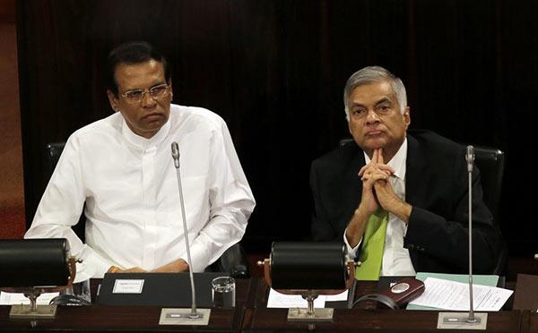 Sri Lanka President Maithripala Sirisena and Prime Minister Ranil Wickremesinghe
