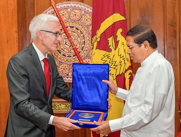 Sri Lanka President Maithripala Sirisena awarded INTERPOL medal