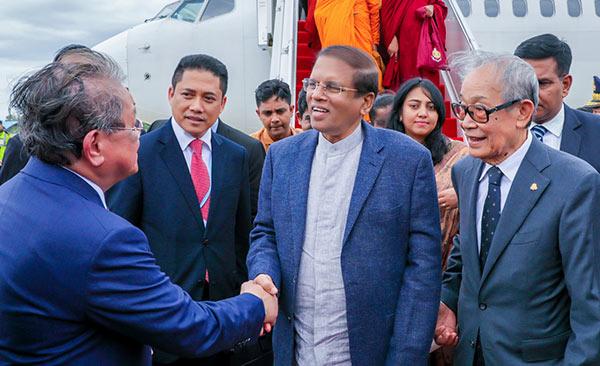 Sri Lankan President Maithripala Sirisena has arrived in Cambodia