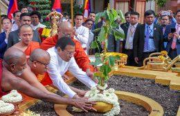 Sri Lanka President Maithripala Sirisena in Cambodia