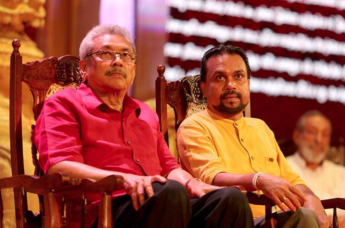 Gotabaya Rajapaksa with Wimal Weerawansa