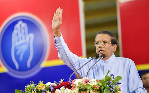 Maithripala Sirisena President of Sri Lanka