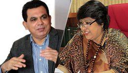 Nissanka Senadipathi and Dilrukshi Dias Wickremasinghe