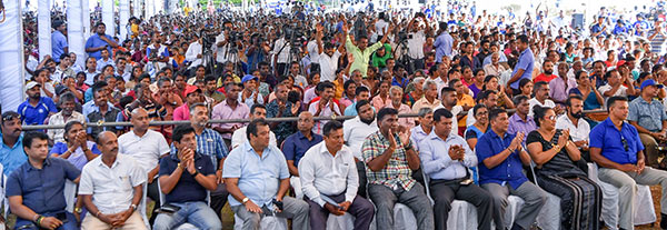 Sri Lanka people at a political rally