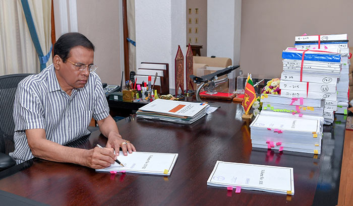 Sri Lanka President Maithripala Sirisena signs request for Arjuna Mahendran's extradition