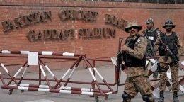 Tight security at Gaddafi stadium in Pakistan