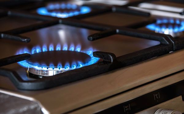 Gas oven flame