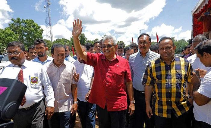Gotabaya Rajapaksa at Galgamuwa in Kurunegala Sri Lanka
