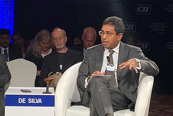 Harsha De Silva is at World Economic Forum