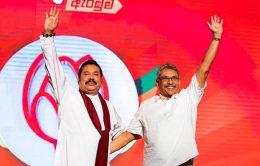 Mahinda Rajapaksa with Gotabaya Rajapaksa