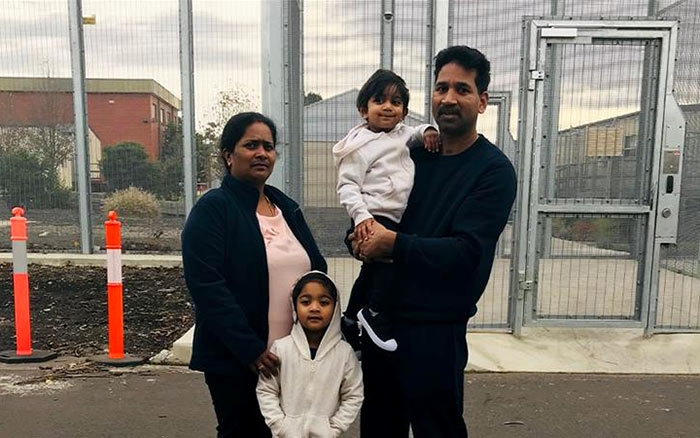 Nadesalingam and Priya two Tamil asylum seekers