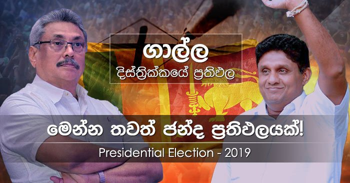 Galle district results of Presidential Election 2019 in Sri Lanka