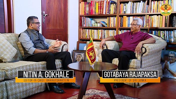 Gotabaya Rajapaksa - President of Sri Lanka had a discussion with Nitin A. Gokhale