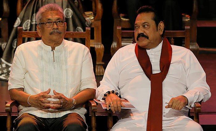 Gotabaya Rajapaksa with Mahinda Rajapaksa