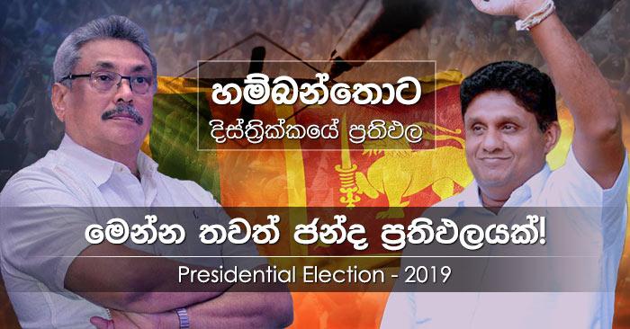 Hambantota district results of Presidential Election 2019 in Sri Lanka