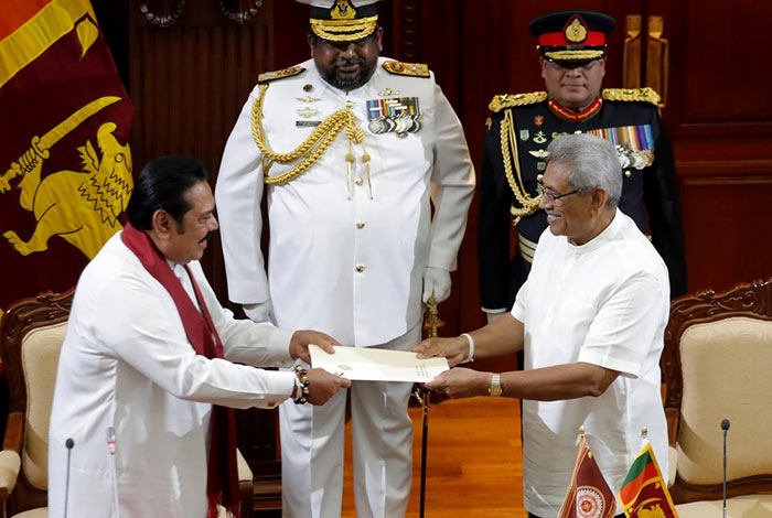 Mahinda Rajapaksa sworn in as Prime Minister of Sri Lanka