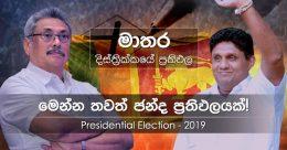 Matara district results of Presidential Election 2019 in Sri Lanka