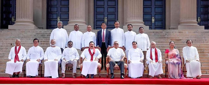 New cabinet ministers of Sri Lanka