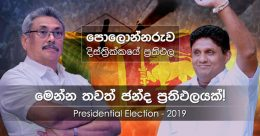 Polonnaruwa district results of Presidential Election 2019 in Sri Lanka