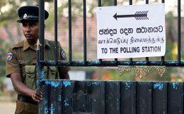 Sri Lanka police on election duty