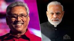 Sri Lanka President Gotabaya Rajapaksa and India Prime Minister Narendra Modi