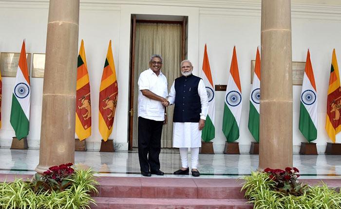 Sri Lanka President Gotabaya Rajapaksa with India Prime Minister Narendra Modi