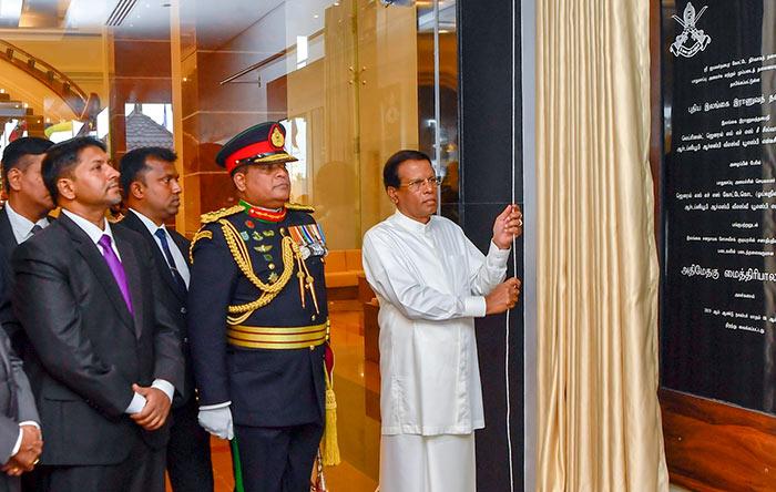 Sri Lanka President Maithripala Sirisena declares open new Army Headquarters in Akuregoda Pelawatta Sri Lanka