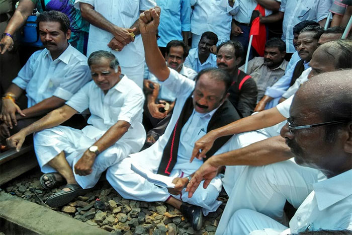 Vaiko during a protest