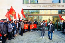 LTTE Tamil tiger supporters at Westminster magistrates court
