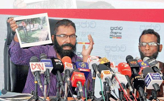 White van drivers of Rajitha Senaratne at a press conference