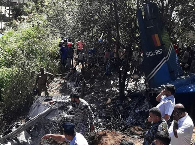 Aircraft crash at Haputale - Sri Lanka