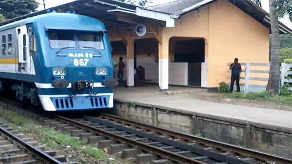 Dematagoda railway station in Sri Lanka
