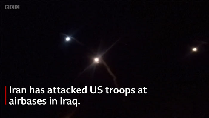Iran has attacked United States troops at airbase in Iraq