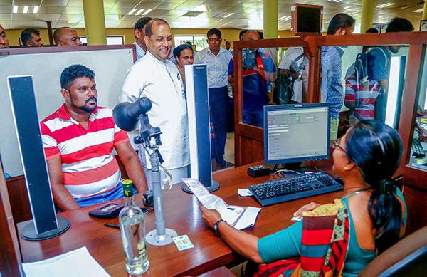 Minister Mahinda Amaraweera is at Department of Motor Traffic