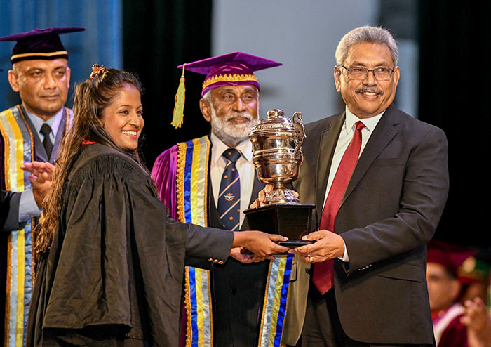President Gotabaya Rajapaksa at the Convocation of the General Sir John Kotelawala Defence University