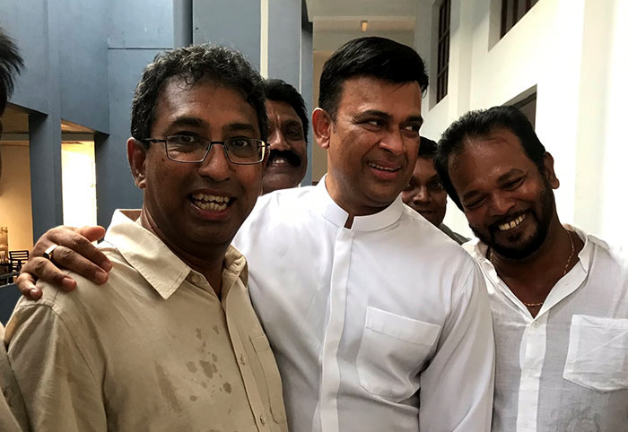 Ranjan Ramanayake with Harsha De Silva and Palitha Thewarapperuma