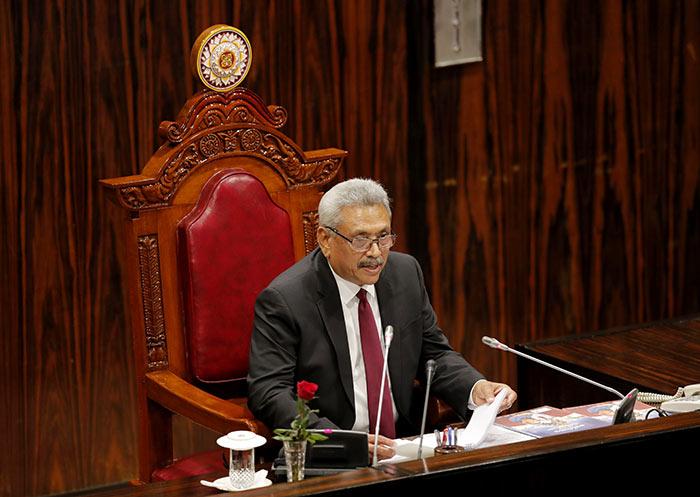 Sri Lanka President Gotabaya Rajapaksa at Parliament of Sri Lanka