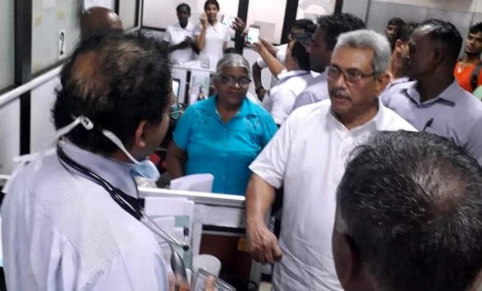 Sri Lanka President Gotabaya Rajapaksa makes a sudden visit to National Hospital Colombo - Sri Lanka