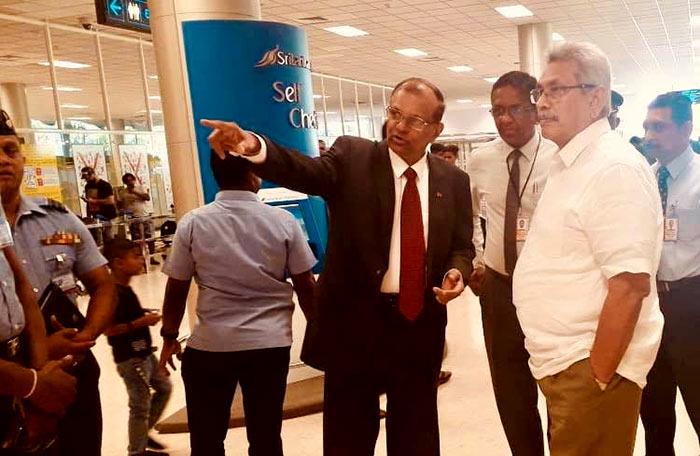 Sri Lanka President Gotabaya Rajapaksa visited Katunayake Bandaranaike International Airport