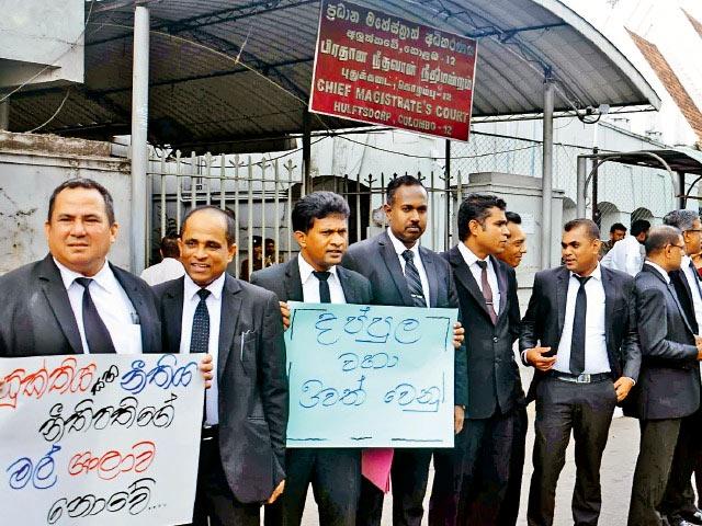 Protest against Dappula De Livera