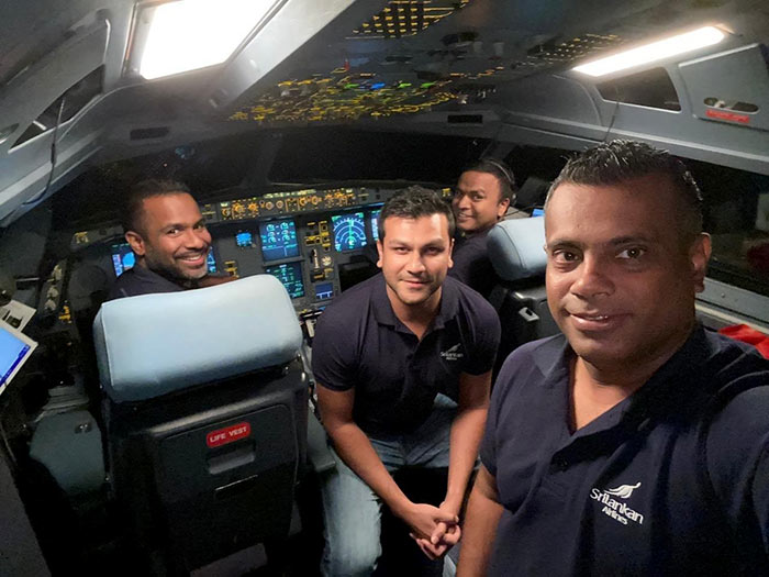 Srilankan Airlines crew-members who volunteered to fly into Wuhan China