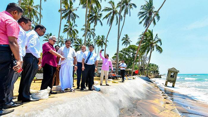 President Gotabaya Rajapaksa inspected the progress of the Kalutara North Calido beach Development Project