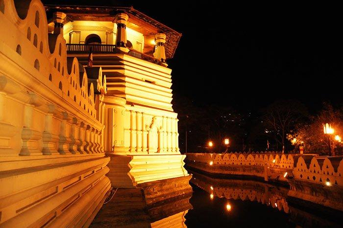 Sri Dalada Maligawa in Kandy Sri Lanka