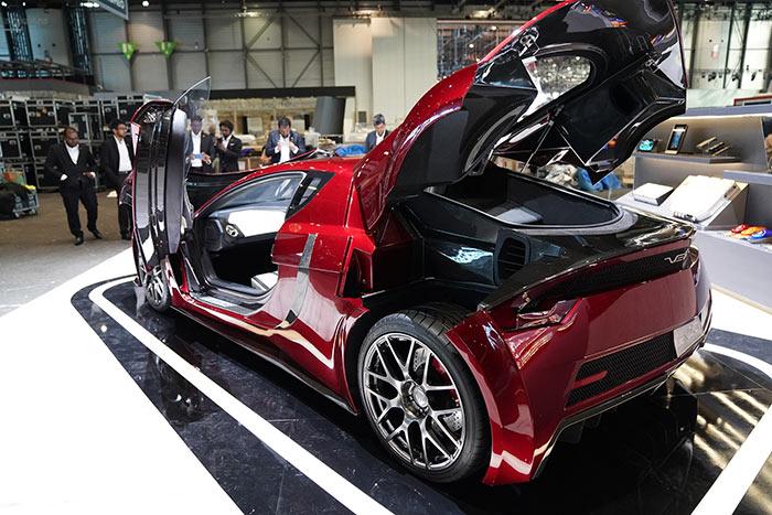 Vega electric supercar at Geneva international motor show 2020